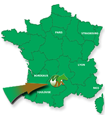 Location of the Bozouls stud farm, in France